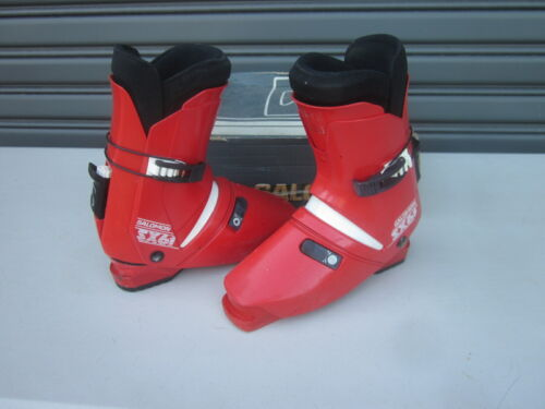 SALOMON SX61 REAR ENTRY RETRO STYLE SKI BOOTS 345