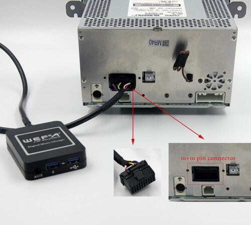 Para Renault Megane streaming de música cargador de teléfono Bluetooth módulo SD AUX CD 8