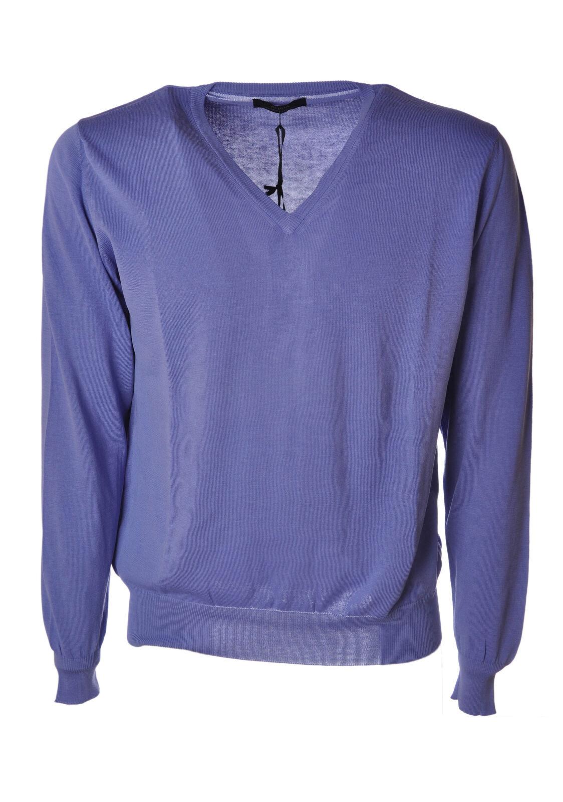 Alpha - Knitwear-chandails - Man - bleu - 4625311D183858