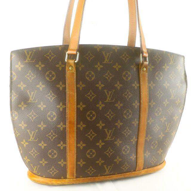 Auth LOUIS VUITTON BABYLONE Tote Bag Shoulder Purse Monogram M51102 Brown