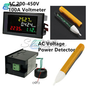 AC-Voltage-Power-Detector-100A-AC-200-450V-LCD-Voltmeter-Ammeter-Amp-Kwh-Meter