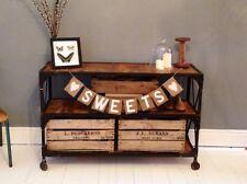 SWEETS Hessian / Burlap Rustic Vintage Wedding Sweet Table Banner Bunting