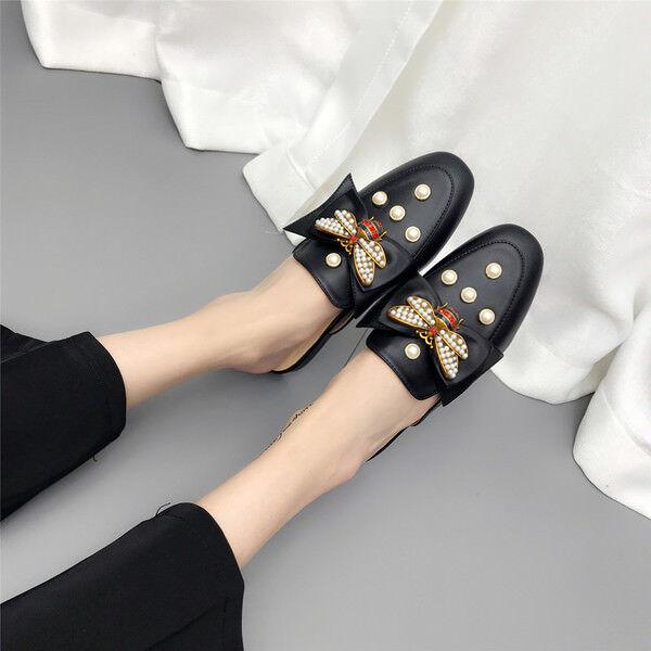 pantoufles élégant l'aise sabot de couleur noire peu élégant à l'aise élégant comme du cuir 9836 5c319e
