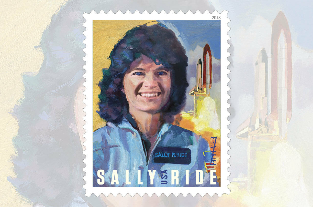 2018 50c Sally Ride, First Woman Astronaut in Space Sco