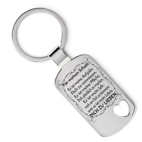 Schlüsselanhänger mit romantischen Spruch = Es ist mein Leben dich zu lieben