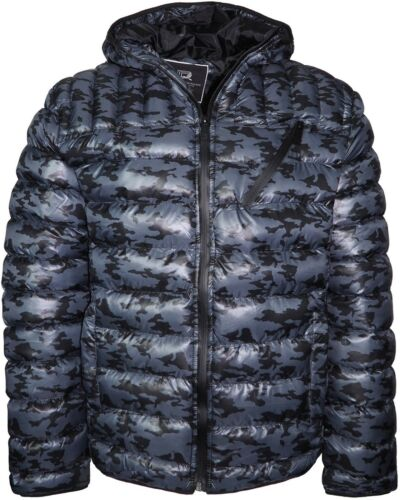 Men/'s Camo Bubble Hooded Jacket Puffer Winter Padded Coat Lightweight