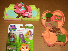 LPS Littlest Pet Shop Teensies Jungle Monkey MIP w Polly Pocket House Playsets