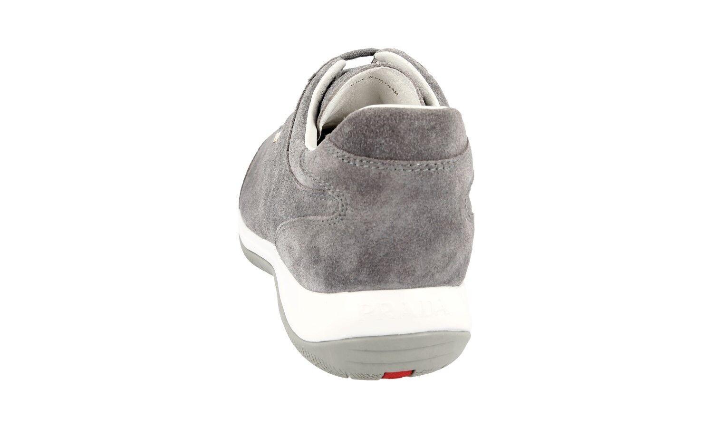 zapatos PRADA PRADA PRADA LUXUEUX 3E5793 gris NOUVEAUX 40,5 41 UK 7.5 0b6e5a