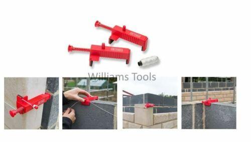 Armeg Pair of Brick Runner Corner Line Blocks for Builders Bricklayers Bricks