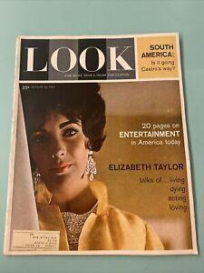 Look Magazine August 15 1961 Elizabeth Taylor Fidel Castro Robin Roberts
