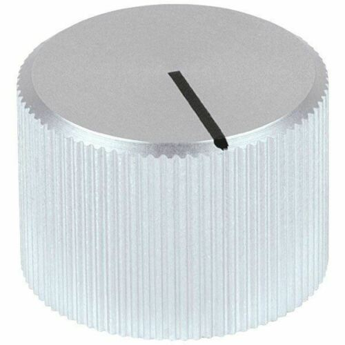 Mentor 507.61 Aluminium Turning Knob - Setscrew - 20mm - Silver Without Indicato