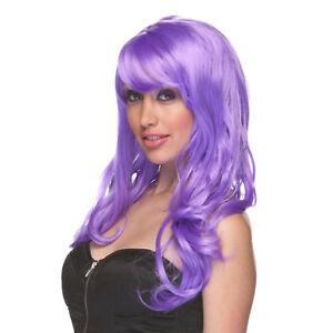 Adult-Long-Lavender-Purple-Costume-Wig-Halloween-Bangs-Anime-Character-Cosplay