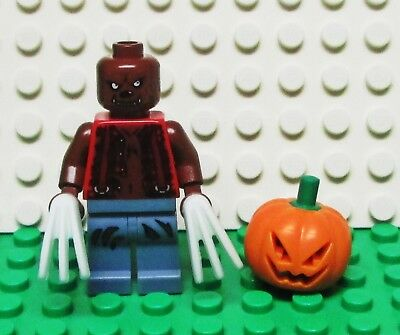 Lego Werewolf w// Glow in the Dark Claws /& Pumpkin Jack O/' Lantern Headgear NEW