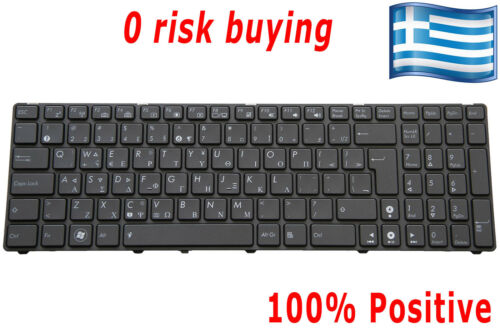 For Asus G60JX G60VX G73JW G73SW U50VG UX50V VX7SX Keyboard Greek US GR Backlit