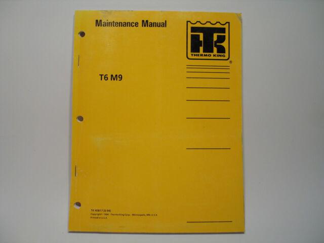 Thermo King T6 M9 Transit Bus Air Conditioning Maintenance Manual Wiring Diagram