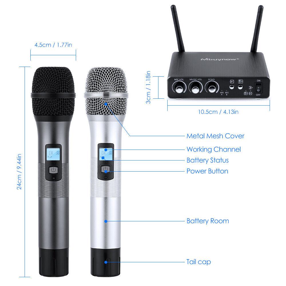 Professional Mic System Wireless Mikrofon UHF 25 Channel Weihnachten Teil Karaoke USA