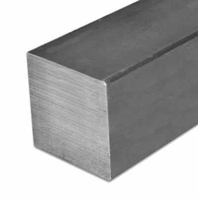 """2 Pieces 1/"""" x 1/"""" x 60/"""" A36 Prime New Hot Rolled Steel Square Bar Ships UPS"""