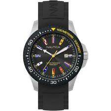 Orologio Uomo NAUTICA JONES BEACH NAPJBC003 Silicone Nero Bandierine Sub 100mt