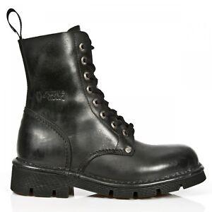 Chaussures newmili084 New M 8 Noires Unisexe Militaire s1 Rock Oeillet Gothiques Bottes E7vq1w7