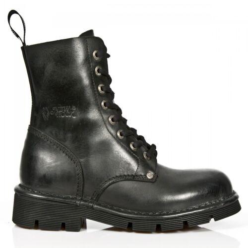 Bottes Militaire 8 Gothiques New Unisexe Chaussures Rock Noires newmili084 Oeillet M s1 4Sxx07Iq