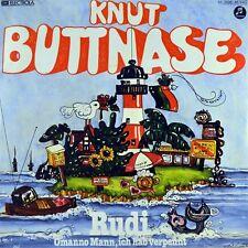 """7"""" KNUT BUTTNASE Rudi / Omanno Mann ich hab' verpennt TRASHMEN Surfin' Bird 1981"""