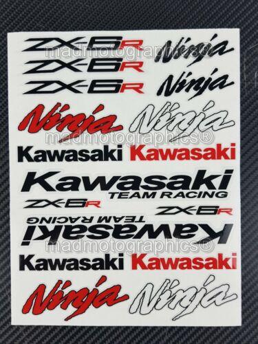 ZX-6R Ninja motorcycle decal set 39 stickers fairing Laminated kawa zx6r red