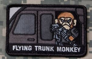 Mil-Spec Monkey Flying Trunk Monkey Morale Patch Swat Hook Back | eBay