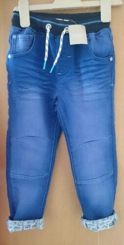 Bnwt 2-3 years Aqua Jersey Transport turn up jeans frm NEXT