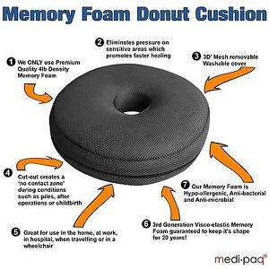 Memory-Foam-Ring-Cushion-Surgical-Donut-Hemorrhoids-Piles-Pregnancy-Pressure