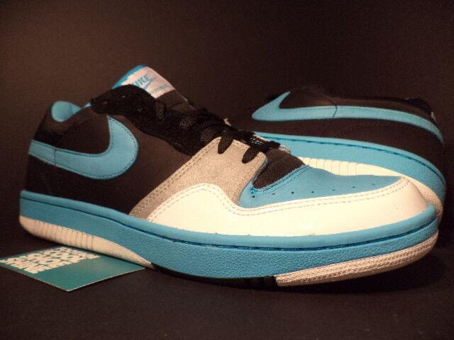 2006 Nike Dunk COURT FORCE Low STUSSY Noir CHLORINE 13 Bleu blanc 314209-042 DS 13 CHLORINE b06ecc