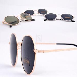 Newstylish Herren Mode Accessoires Brille Metallrahmen Runde Sonnenbrille