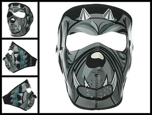 Lt Bulldog Spike Full Face Neoprene Mask Biker Ski Motorcycle Costume Paintball Ebay