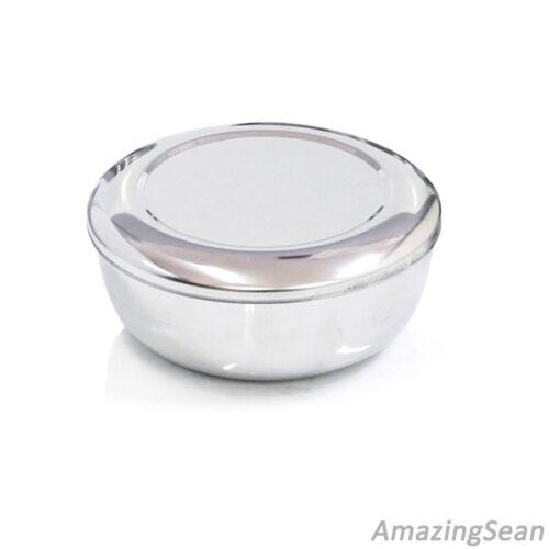 Korean Stainless Steel Rice Bowl Lid Hygienic Sanitary Dish Kore Warm Bowl