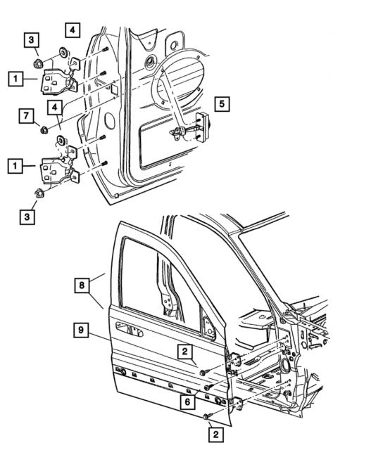 2002 07 Jeep Liberty Front Door Hinge Check Strap 55177028ac Oem Mopar For Sale Online Ebay