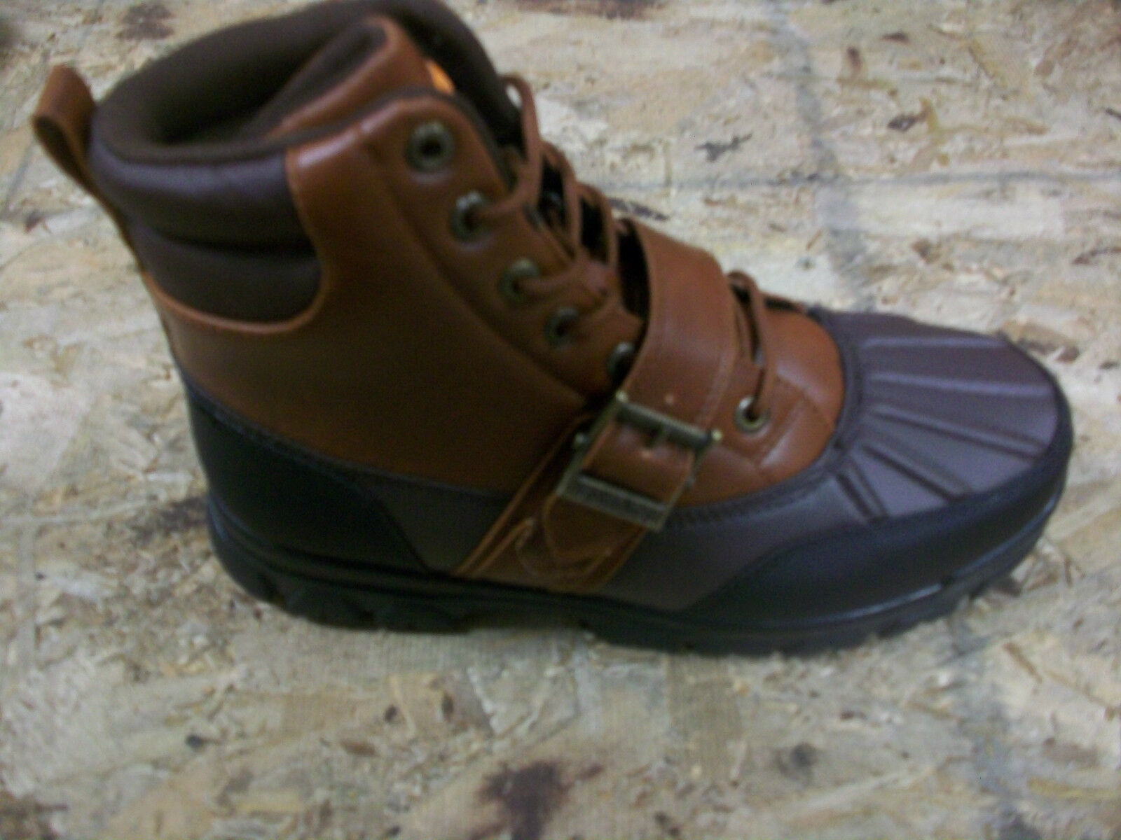 New Men's Vikings Amarillo High Brown/Black Ankle Boots Size 12 Brand New!