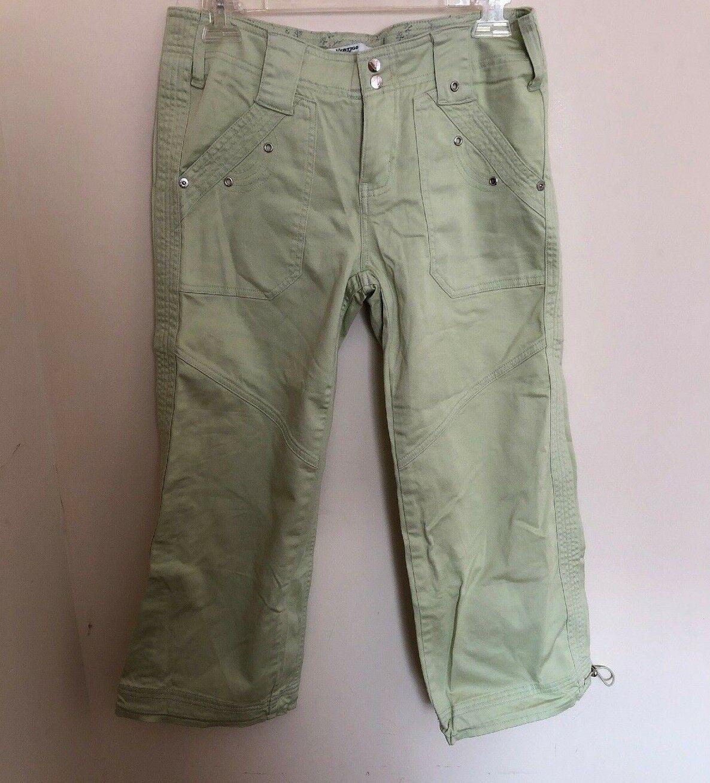 New Grünigo Paris Grommet Cropped Capri Cotton Pants,Größe 6,Mint Farbe