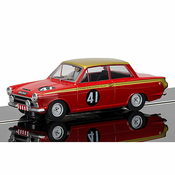 SCALEXTRIC Digital ARC Pro Slot Car C3870 Ford Cortina, Alan Mann Racing