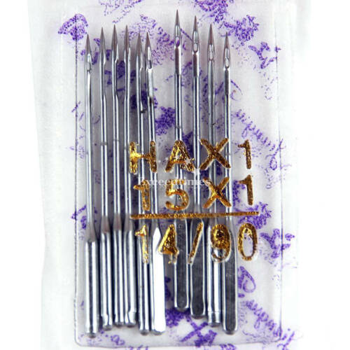 10X Threading Singer Hemline Sewing Machine Needles Mending Craft Assorted Sizes