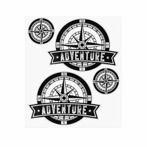 Kit Adventure Stickers Adesivi per Bauletti Moto Rosa dei Venti 2