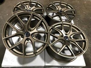 18 Matt Bronze Wheels 5x112 for Audi, Volkswagen Jetta or Golf Calgary Alberta Preview