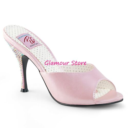Glamour Nero 11 Oro 41 Scarpe Rosa Dal Strass Sabot Tacco Sexy Sandali Al 35 pUwHqROfZW