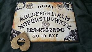 Wooden-Ouija-Board-Game-Classic-Pentagram-amp-Planchette-ghost-hunt-Instructions