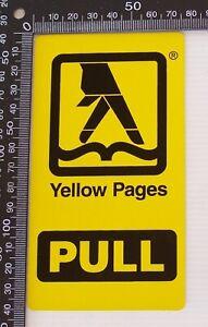VINTAGE-YELLOW-PAGES-PULL-BUSINESS-SOUVENIR-PROMO-SHOP-DOOR-STICKER