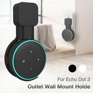 Black-Outlet-Wall-Mount-Holder-Bracket-for-Amazon-Echo-Dot-3rd-Gen-Speaker-Stand