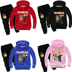 Boys Girls Roblox Cartoon Kids Hoodies Sweatshirt Pullover Pants
