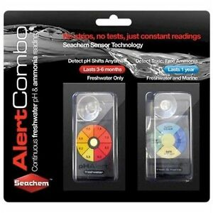 Seachem-Alert-Combo-PH-amp-AMMONIA-Readings-for-SALTWATER-or-FRESHWATER-Aquarium