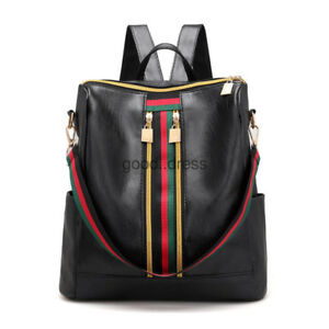 Fashion-Women-Backpack-Travel-Shoulder-Bag-Girls-Ladies-PU-Leather-Rucksack