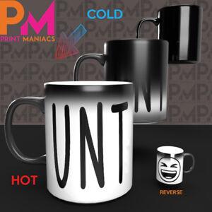 Funny Rude C handle Colour Change Mugs novelty office joke mug secret HIS HER