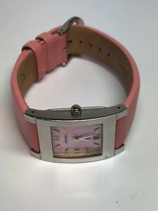 Fossil-Ladies-Quartz-Watch-Square-With-Pink-Leather-Band-ES-9757