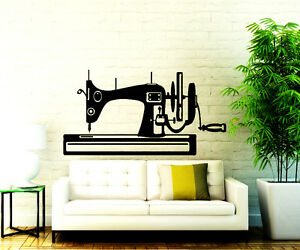 Sewing Wall Decals Machine Vinyl Sticker Sew Studio Decal Decor Home Art Chu321 Ebay